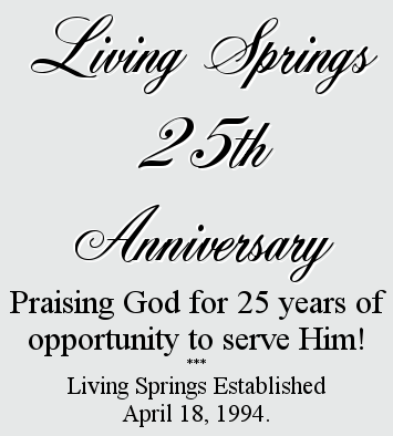 Celebrating 25 years of service to our Lord!
