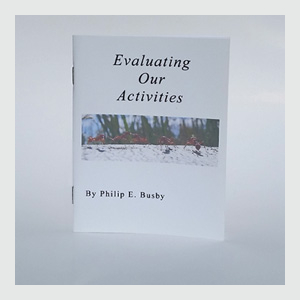 Front of Evaluating Our Activities Booklet