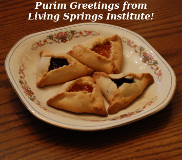 Purim Greetings from Living Springs Institute!