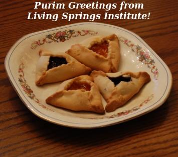Purim Greetings from Living Springs Institute!