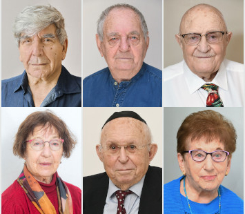 Six Holocaust survivors.