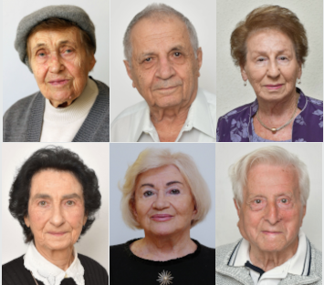 Six Holocaust survivors.